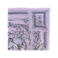 VersaceCachecol de seda com estampa barroca
