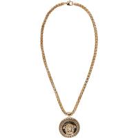 VersaceBlack And Gold Medusa Necklace
