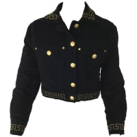 VersaceJeans Couture Black Velveteen Cropped Jacket