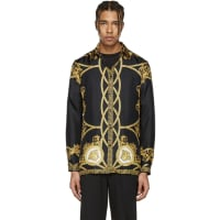 VersaceSilk Regular Fit Coup De Dieu Print Shirt