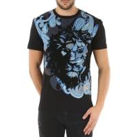 VersaceT-Shirt for Men On Sale, Black, Cotton, 2016, L M S XL