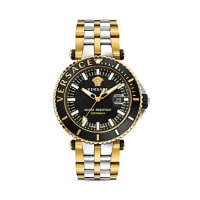 VersaceTwo-Tone V-Race Diver Watch, 46mm