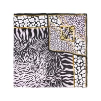 VersaceCachecol de seda com estampa de zebra
