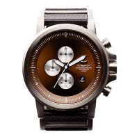 VestalPlexi Leather WatchSilver / Black / Brown