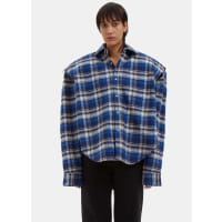 VETEMENTSFootball Shouldered Checked Flannel Shirt