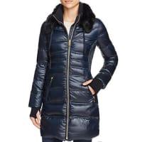 Via SpigaFaux Fur-Trim Down Coat