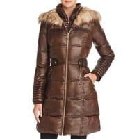 Via SpigaFaux Fur Trim Puffer Coat