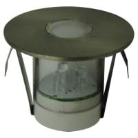 Vibe LightingLED Inground Deck Light Kit Exterior Stainless Steel 1W in Warm White