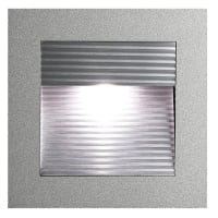 Vibe LightingLED Wall Light Recessed Square Eyelid Silver 1.2W in Cool White 9cm