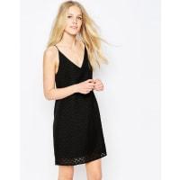 VilaLado Textured Cami Dress In Black - Black