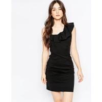 VilaPencil Dress With Ruffle Detail - Black