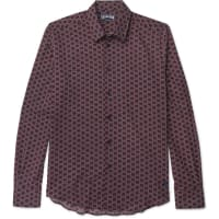 VilebrequinPrinted Cotton-voile Shirt - Red