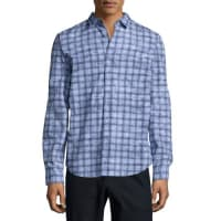 VinceMelrose Printed Long-Sleeve Shirt, Light Blue