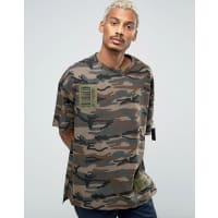 Vision AirCamo T-Shirt With Dropped Shoulders - Green