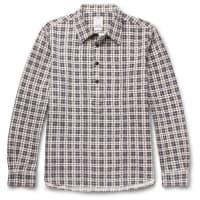 VisvimChecked Cotton-flannel Shirt - Navy
