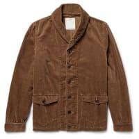 VisvimKobuk Shawl-collar Cotton-blend Corduroy Jacket - Brown