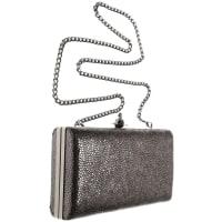 Vivienne WestwoodAbendtasche für Damen, Grau, Leder, 2016