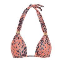 VixBia Snake-print Triangle Bikini Top - Peach
