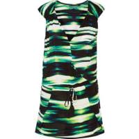 VixMolly Wrap-effect Striped Voile Kaftan - Green