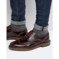 WALK LONDONWalk London - Darcy - Scarpe brogue extra lucide - Rosso