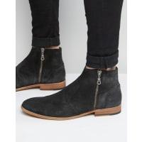 WALK LONDONWalk London Giles Suede Zip Boots - Blue