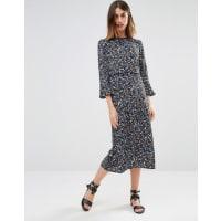 WarehouseDitsy Floral Midi Dress - Multi
