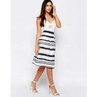 WarehouseOrganza Stripe Skirt - Multi