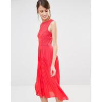 WarehouseFloral Organza Dress - Orange
