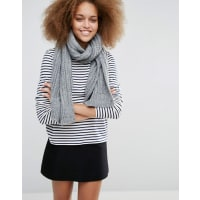 WarehouseCable Knit Scarf - Grey