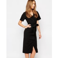 WarehouseWrap Dress - Black