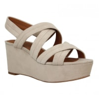 What ForCompensées WHAT FOR 022 velours Femme Beige