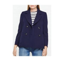 WhistlesDouble Breasted Blazer - Navy, Size 8