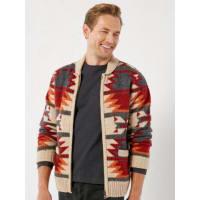 White StuffWhite Stuff Dutton zip pattern knit