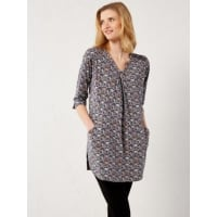 White StuffWhite Stuff Fan print jersey tunic