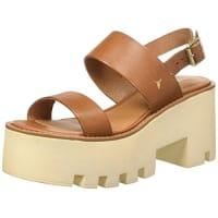 Windsor SmithBuffy Leather, Sandali con Cinturino alla Caviglia Donna, Marrone (Tan), 40 EU