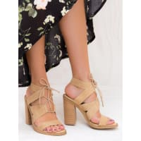 Windsor SmithWomens Windsor Smith Camel Suede Tyra Heels Camel AUS 10