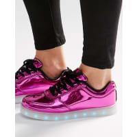 Wize & OpeScarpe da ginnastica rosa pop con suola illuminata - Rosa