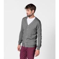 WoolOversMens 100% Merino V Neck Cardigan XXL Grey Marl