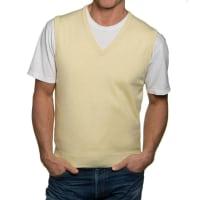 WoolOversMens Cashmere and Cotton Slipover XXL Lemon