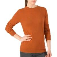 WoolOversWomens Cashmere and Merino Crew Neck Jumper XL Orange Spice