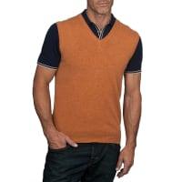 WoolOversMens Cashmere and Merino Slipover XXL Orange Spice