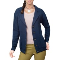 WoolOversWomens Lambswool Chunky Knitted Blazer XL French Navy