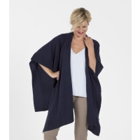WoolOversWomens Cashmere and Merino Blanket Wrap 1size Navy