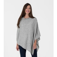 WoolOversWomens Cashmere and Merino Cable Buttoned Poncho and Shrug 1size Fl