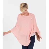 WoolOversWomens Cashmere and Merino Cable Buttoned Poncho and Shrug 1size Pa
