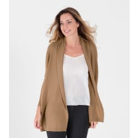 WoolOversWomens Cashmere and Merino Relaxed Rib Cardigan XL Camel