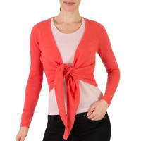 WoolOversWomens Cashmere and Merino Wrap Cardigan L Warm Coral