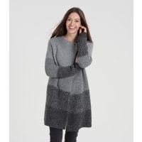WoolOversWomens Lambswool Ombre Wrap Cardi S Flannel Grey