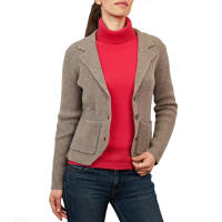 WoolOversWomens Lambswool Relaxed Knitted Jacket XL Doe