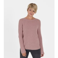 WoolOversWomens Cashmere Merino Cable Jumper XL Chalky Pink